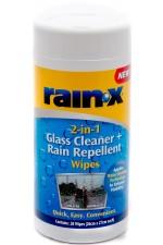 Rain-x® 2-в-1 кърпички - почистват стъклото и нанасят хидрофобно покритие