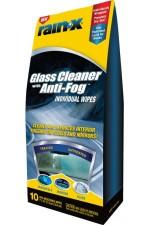 Rain‑X® 2-в-1 против запотяване на стъкла 'мокри кърпички' - 10 бр.