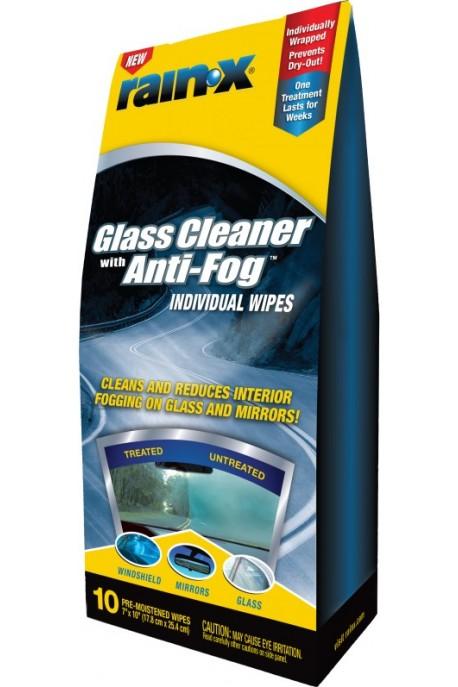 Rain‑X® 2-в-1 против запотяване на стъкла 'мокри кърпички'
