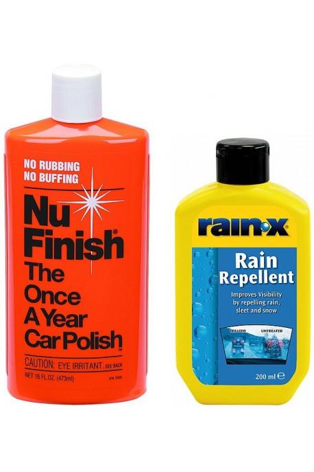 Rain-x за дъжд + Nu Finish Запечатваща Полир Паста